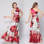 Saténové šaty s jedným ramienkom, 40
