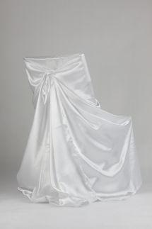 Univerzalne satenove navleky snehovo biele - Obrázok č. 1