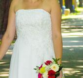 Svadobné šaty 70eur s poštovným + možná dohoda , 40