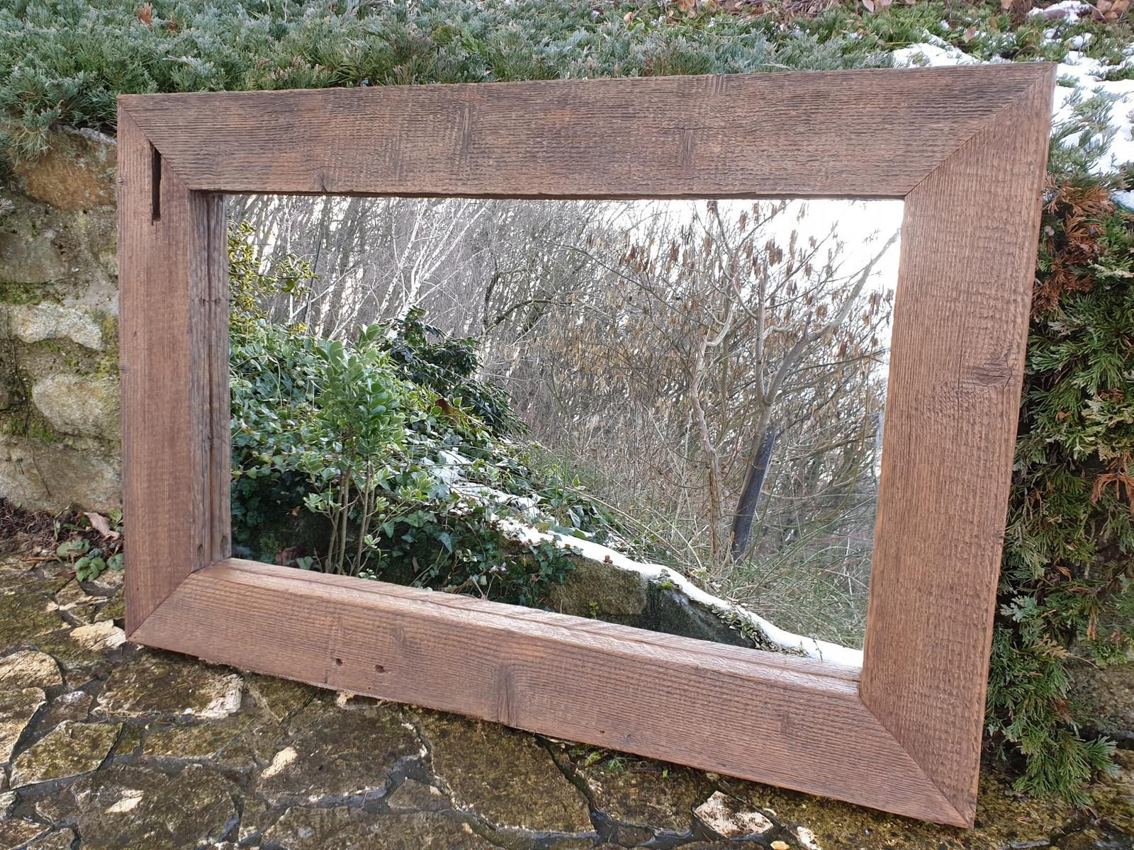 Zrkadlo zo starého dreva - Obrázok č. 1