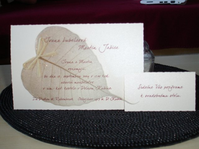 Maťko a Ivka:) 12.09.2009 - naše s pozvánkou