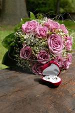 Prstienky a svadobná kytica