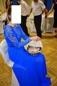 Spoločenské šaty - modré , 38