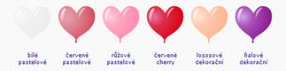Svatební balonky srdce,