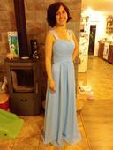 Společenské šaty Blankytné , 38