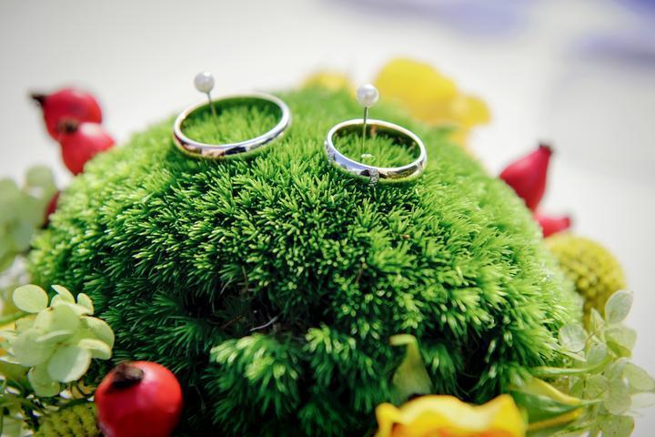 Květinky... - mech pod prtýnky mi přijde ideální...prstýnky vyniknou