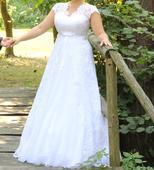 Svatební šaty i pro těhotné 42 - 46, 42
