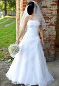 Svadobné šaty+závoj, 36