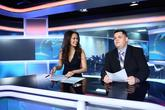 Moderátor odpoledních zpráv s Monikou Leovou na TV PRIMA