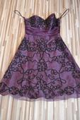 Společenské šaty - fialové, 38