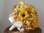 Svatební kytice -  žlutá,