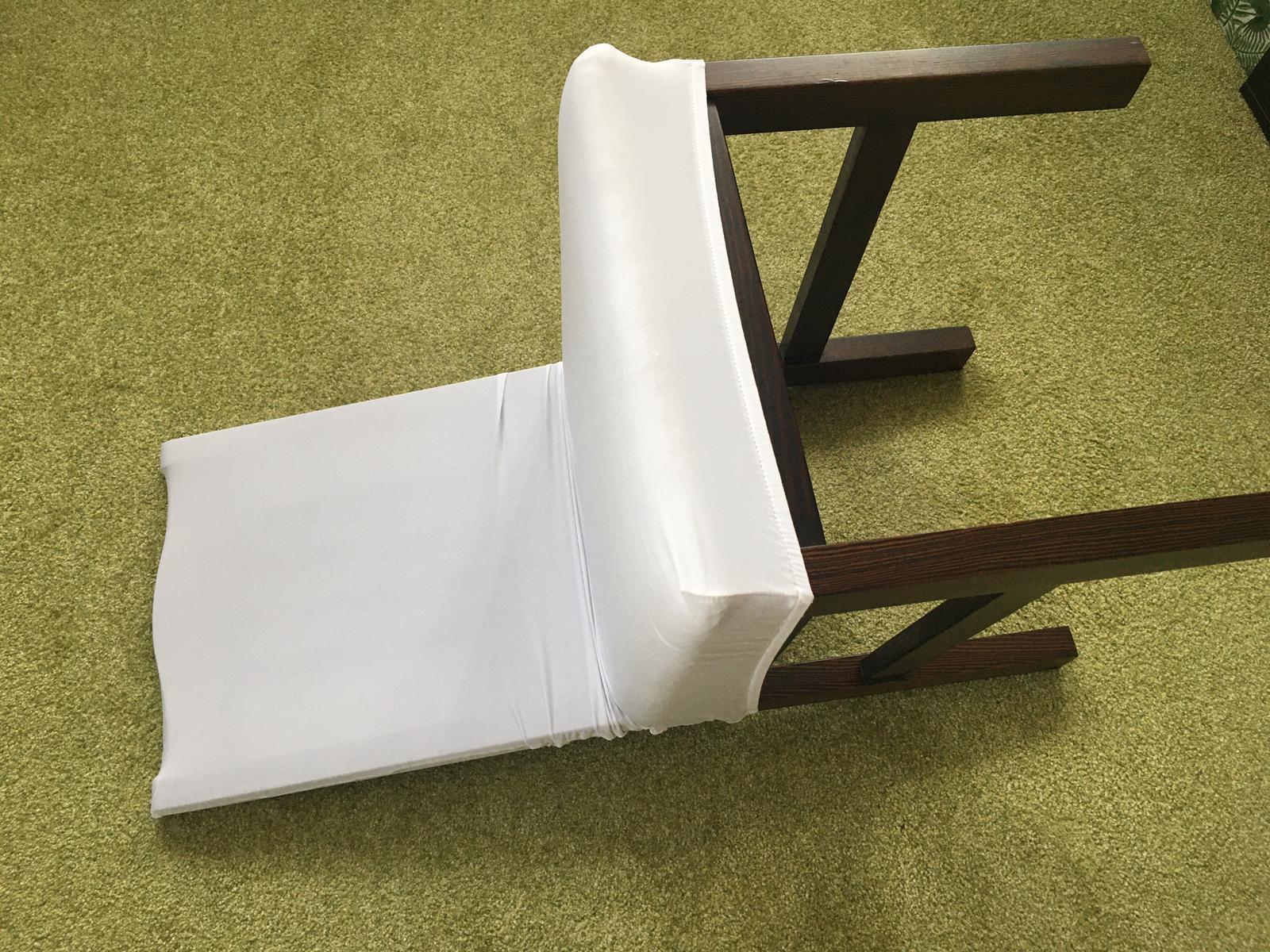 Bílé potahy na židle 12ks - NOVÉ - Obrázek č. 1