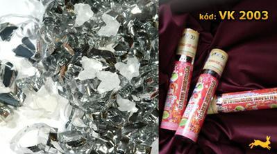 Vystrelovacie konfety s holubkami