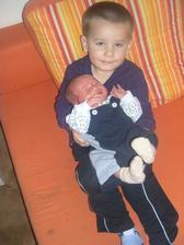 Táda a jeho bráška Matyáš nm,29.6 2013