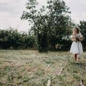 Krátké svatební šaty šité na míru, 36