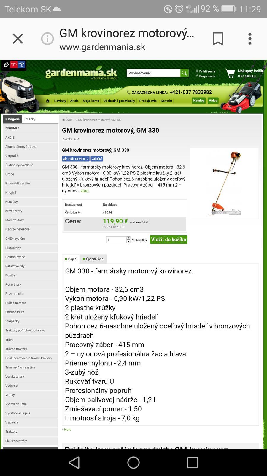 GM Krovinorez - Obrázok č. 1
