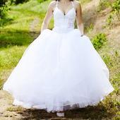 Tylové svatební šaty Kleemeier vel. 34 / 36, 36