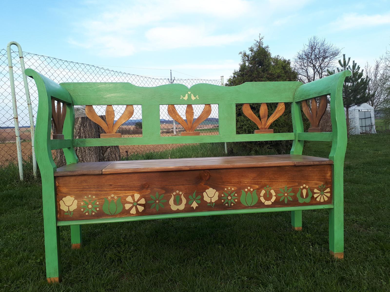 Lavice na chalupu a zahradu - Obrázok č. 3