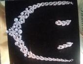 Štrásový set - náhrdelník a naušnice,