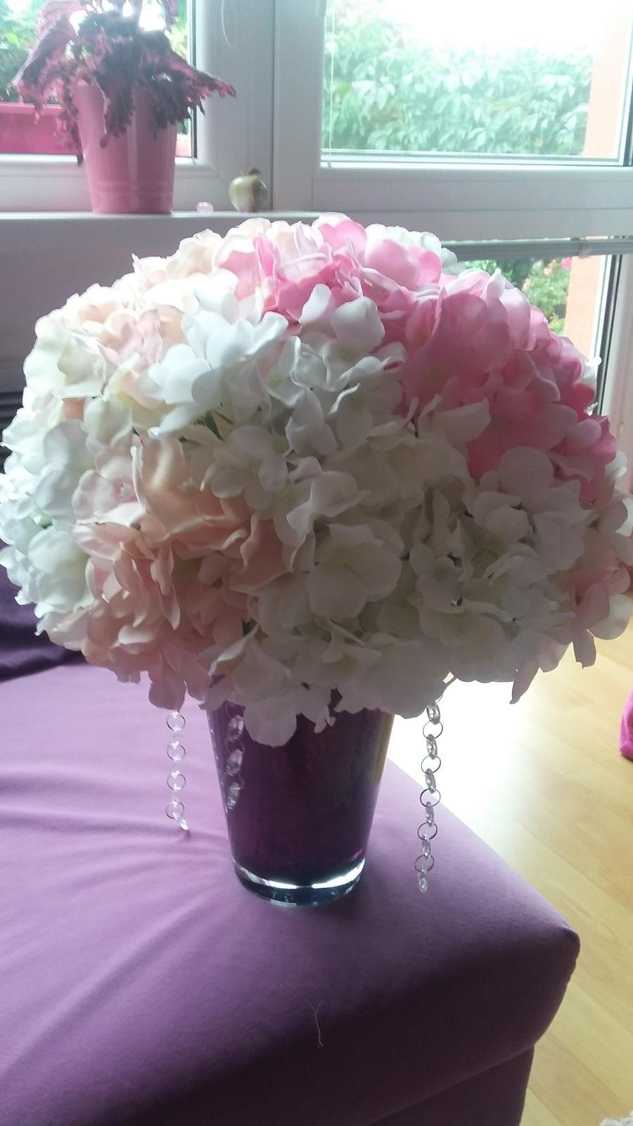 Svadobné kytice z umelých hortenzií - Obrázok č. 2
