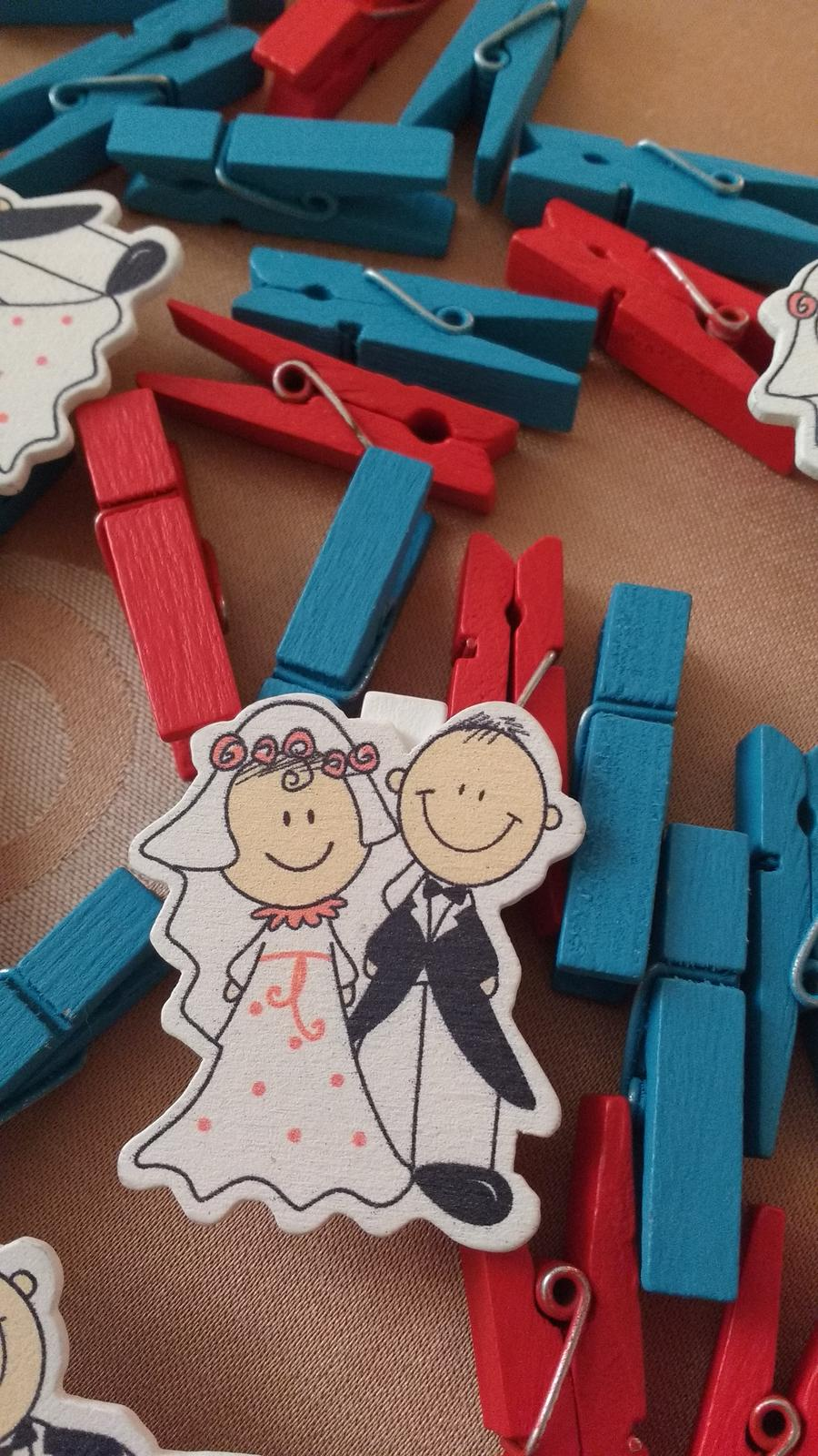 svadobné štipčeky a girlanda sme svoji - Obrázok č. 2