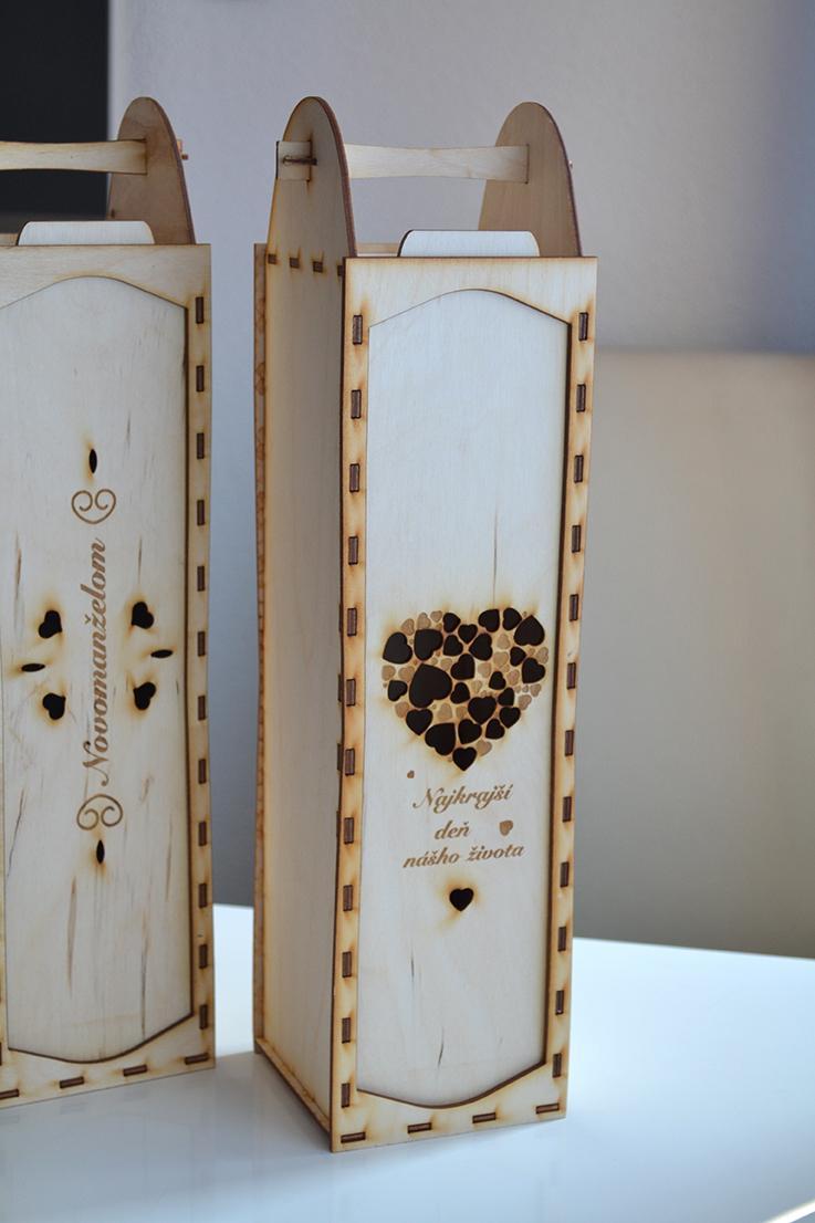gl_spol_sro - Drevená krabička na víno pre novomanželov
