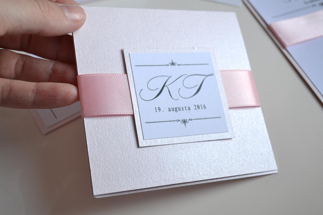 Svadobné oznámenie grácia ružová - Obrázok č. 1