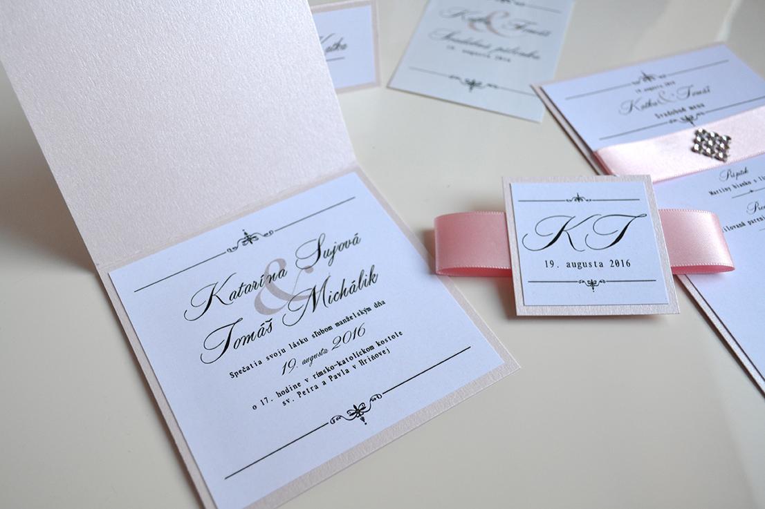 Svadobné oznámenie grácia ružová - Obrázok č. 2