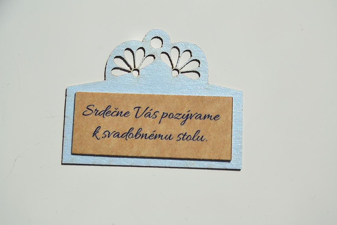 Svadobné oznámenie Ornament modro-prírodná - Obrázok č. 4