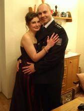 tady jsme my dva, fotka z plesu...