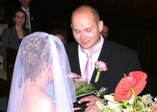 kroužkování ženicha...a je můj:-)