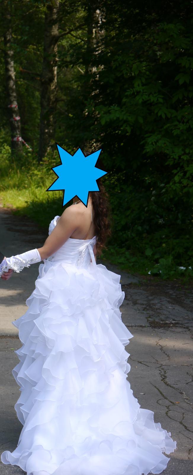 Biele princeznovské svadobné šaty - Obrázok č. 1