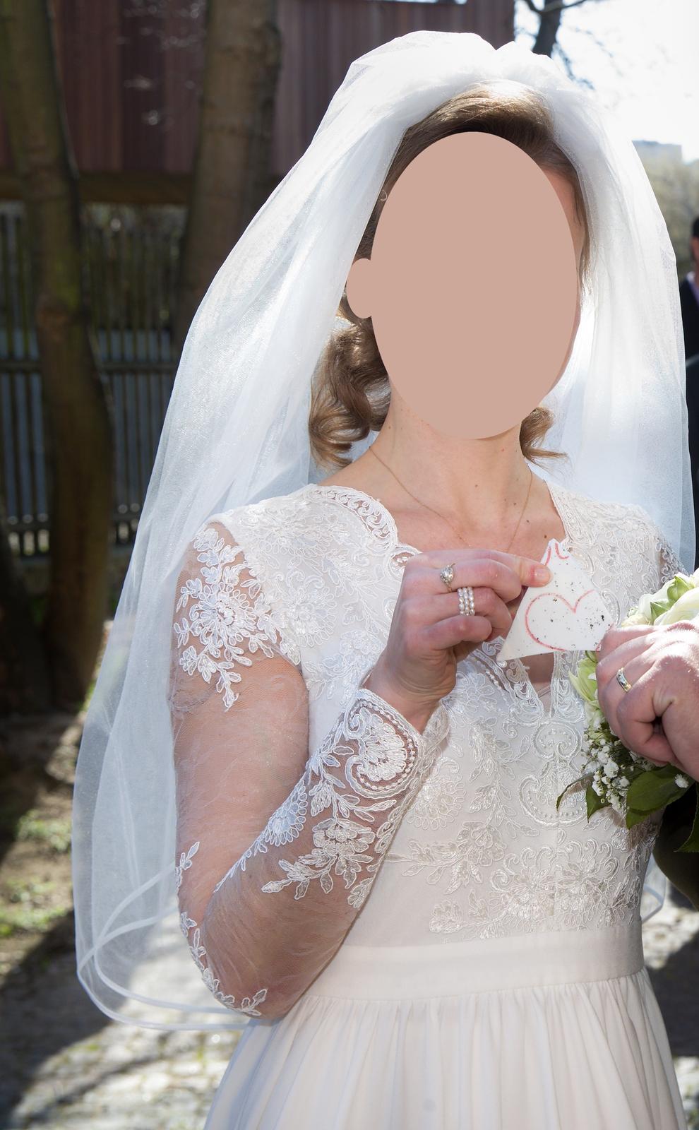 Svatební šaty, vel S, 36 - Obrázek č. 2