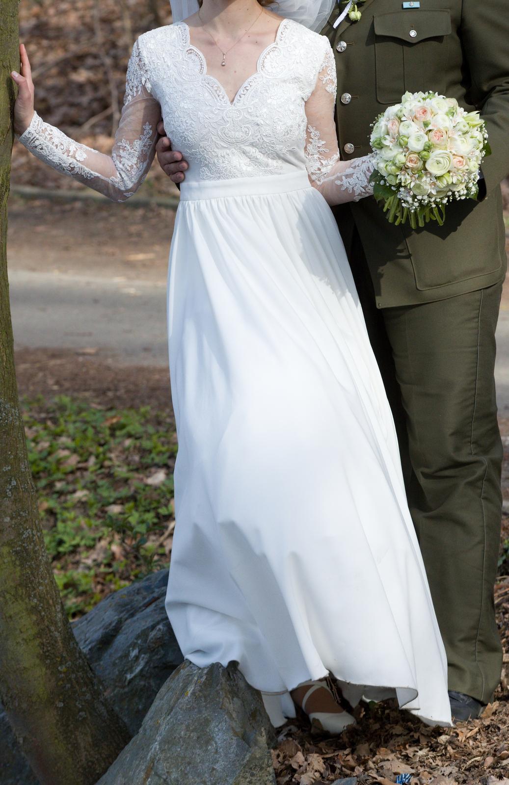 Svatební šaty, vel S, 36 - Obrázek č. 1