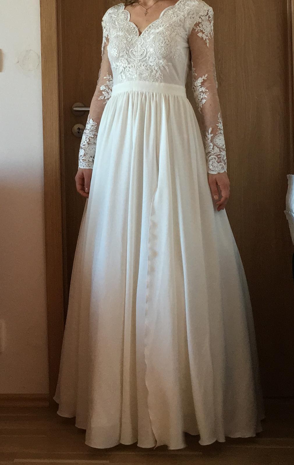Svatební šaty, vel S, 36 - Obrázek č. 3