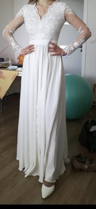 Svatební šaty, vel S, 36 - Obrázek č. 4