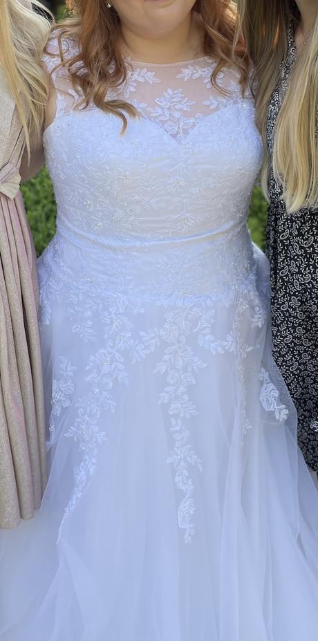 Svadobné šaty plus size veľkosť 46/48 - Obrázok č. 1