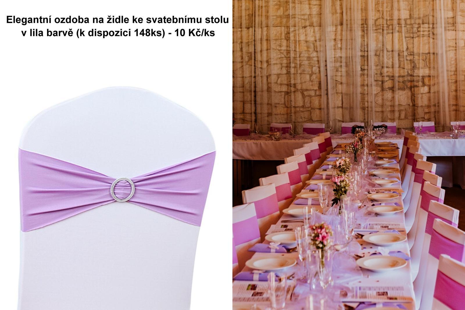 Ozdoba na svatební židle - Obrázek č. 1
