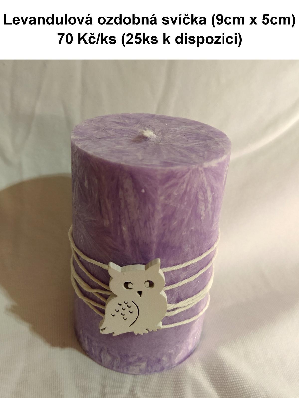 Světle fialová svíčka - Obrázek č. 1