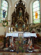 výzdoba oltára cez hody