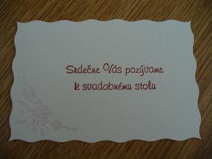 Pozvánka k svadobnému stolu.