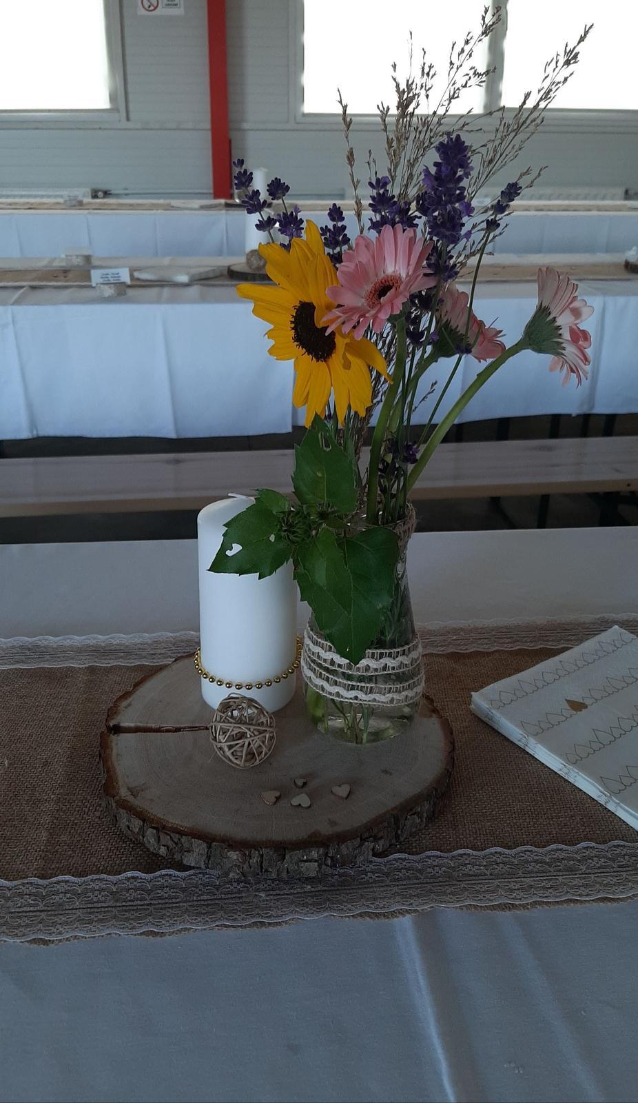 Svadobne dekoracie na stol vintage - Obrázok č. 1