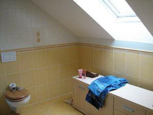 Koupelna podkroví.