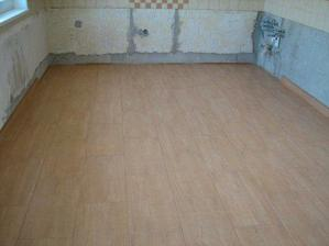 Podlaha v kuchyni.
