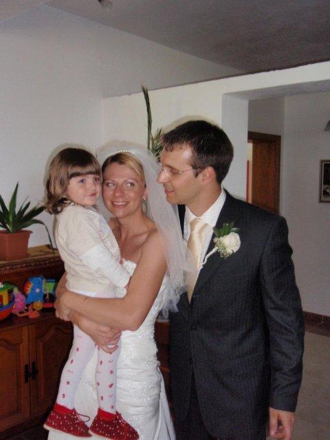 Katka{{_AND_}}Marek - s našou dcérkou Saškou