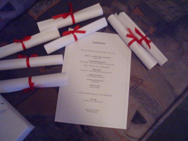 Carlos & Jane 3.8.2007 - svatební menu