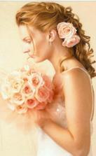 korunku nakonec mít nebudu, vlasy ozdobím květy jako v kytici...
