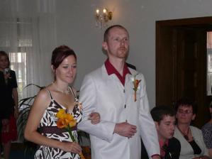 svědci - moje sestra a Jirky brácha