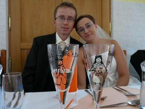 svatební dar od bratra - nádherné skleničky