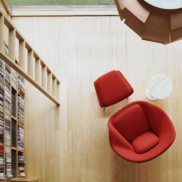 Stavba a interier - Womb chair, kresielko do kniznice :-)